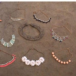 8 different necklaces